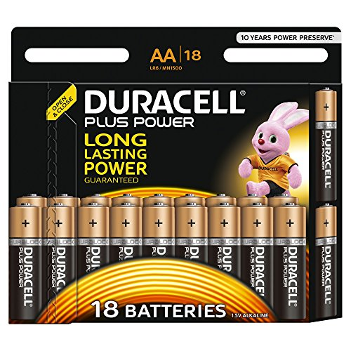 duracell plus power typ aa alkaline batterien 18er pack. Black Bedroom Furniture Sets. Home Design Ideas