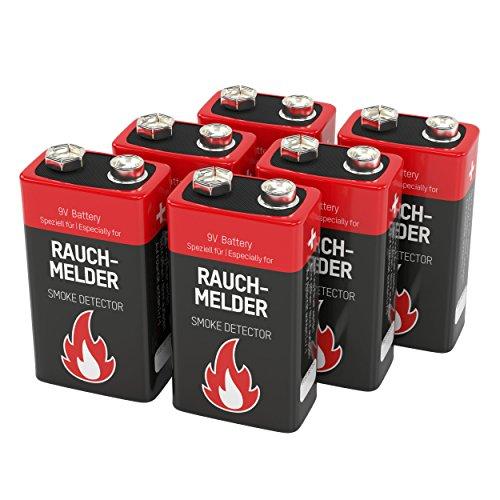 6 ansmann alkaline rauchmelder batterie 9v 7 jahre lagerf hige brandmelder batterie e block. Black Bedroom Furniture Sets. Home Design Ideas